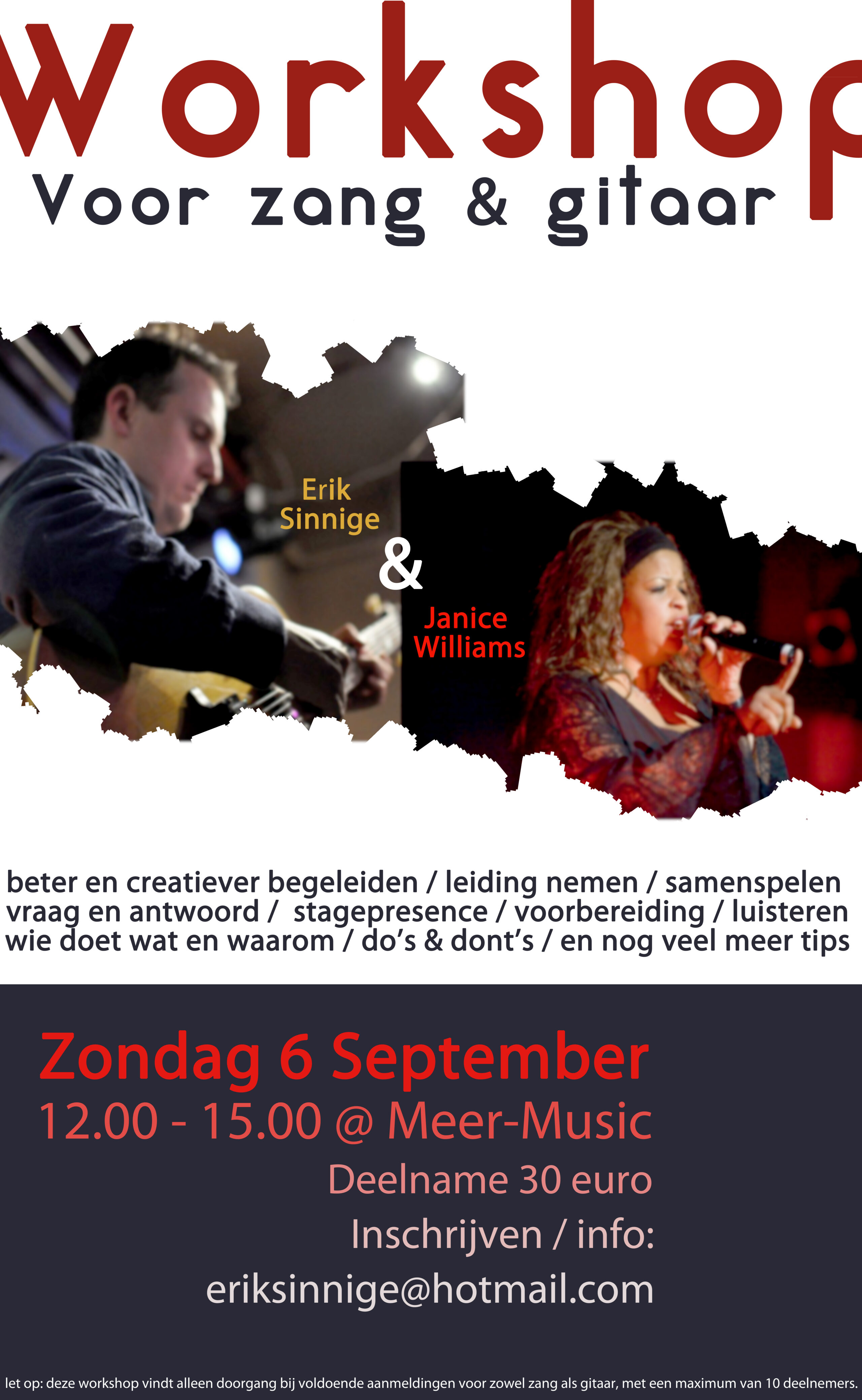 Workshop voor gitaar & zang